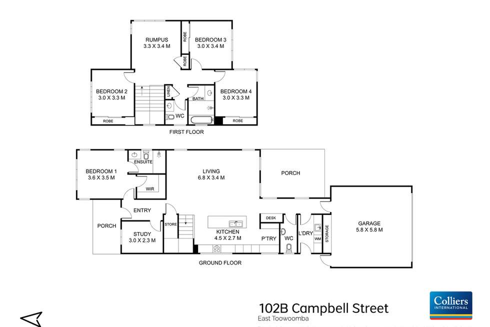 Floorplan of Homely house listing, 102b Campbell Street, East Toowoomba QLD 4350