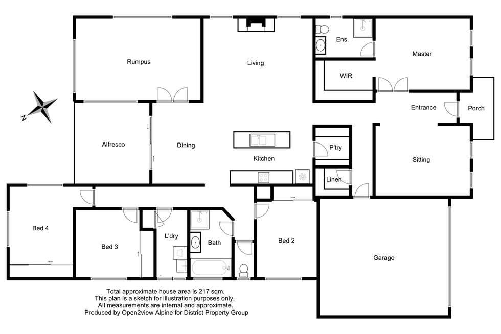 Floorplan of Homely house listing, 5 Stewart Street, Mansfield VIC 3722