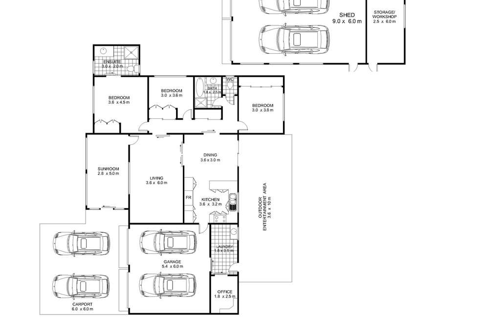Floorplan of Homely house listing, 8B Cawdor Drive, Highfields QLD 4352