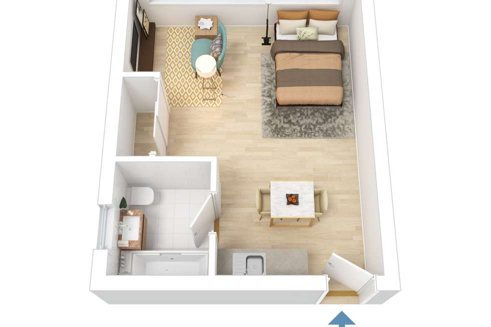 Floorplan of Homely apartment listing, 510/5 Ward Avenue, Potts Point NSW 2011