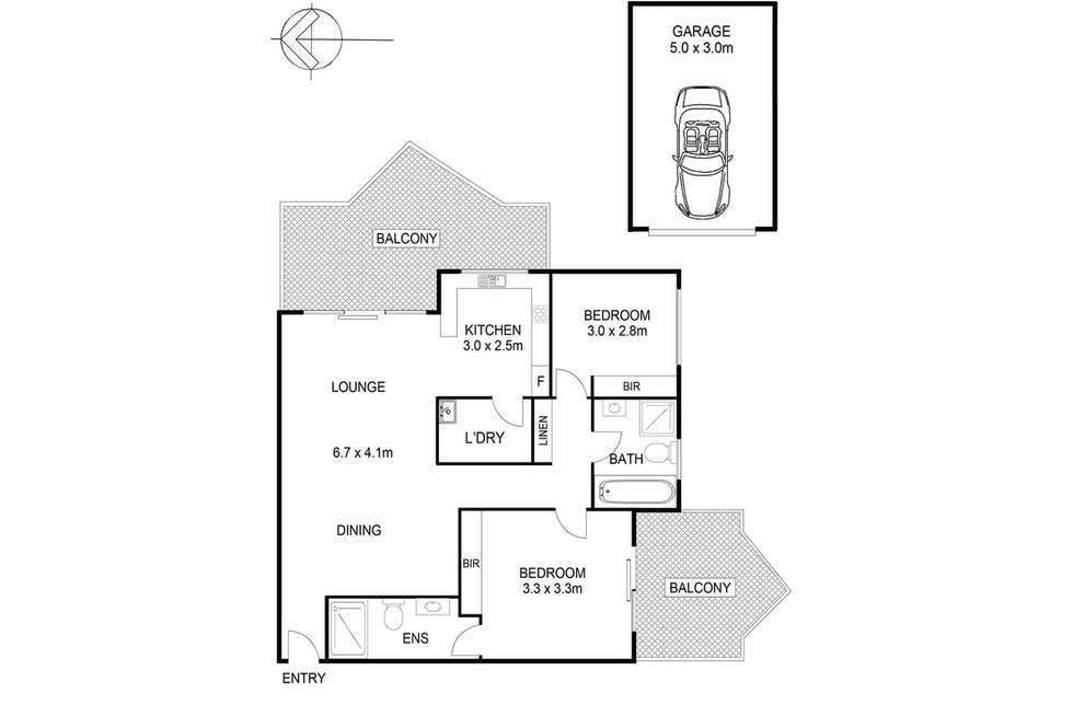 Floorplan of Homely unit listing, 17/14-16 Campbell Street, Northmead NSW 2152
