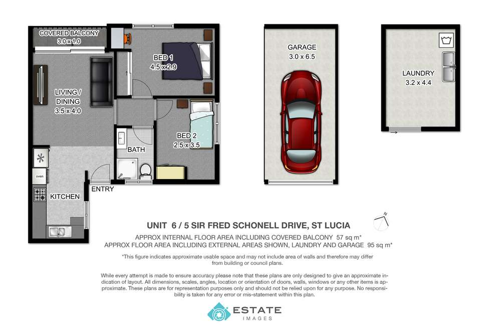 Floorplan of Homely unit listing, 6/5 Sir Fred Schonell Drive, St Lucia QLD 4067