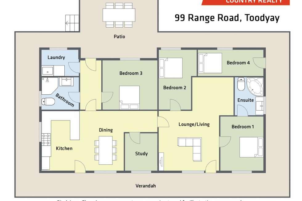 Floorplan of Homely house listing, 99 Range Road, Toodyay WA 6566