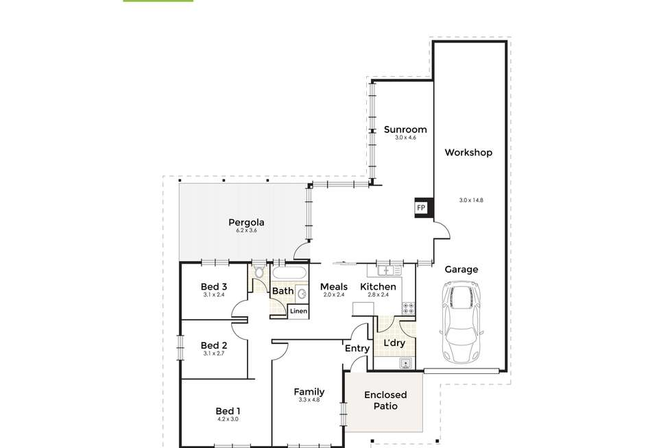 Floorplan of Homely house listing, 10 Coolabah Drive, Mount Nasura WA 6112