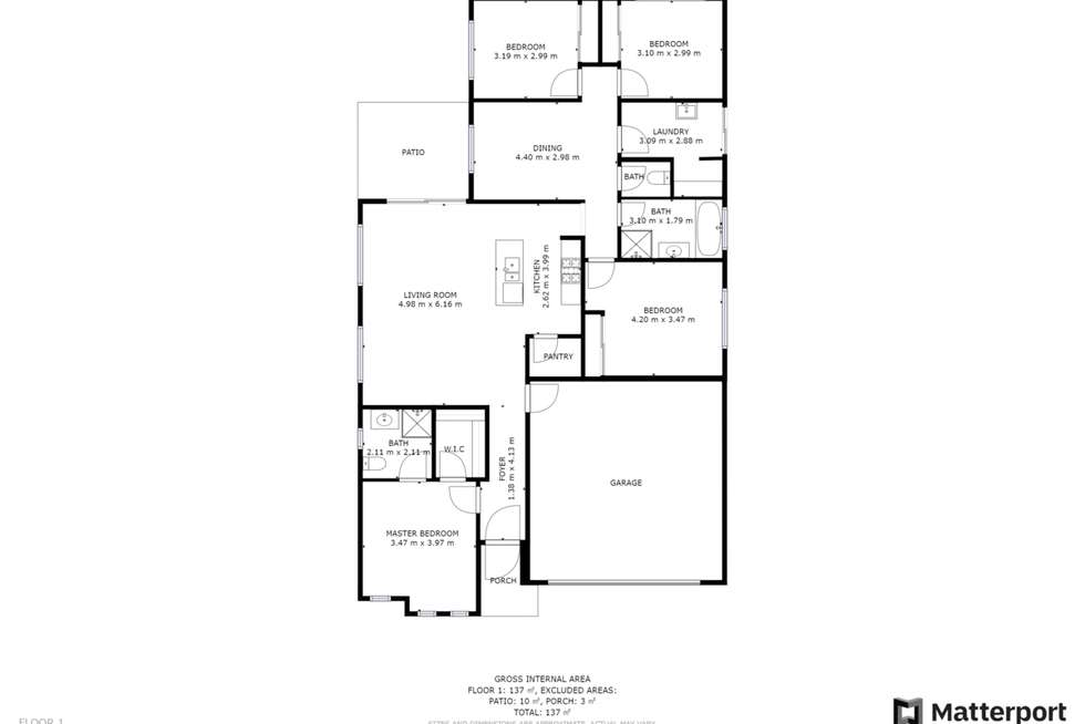 Floorplan of Homely house listing, 13 Mackey Street, Wodonga VIC 3690