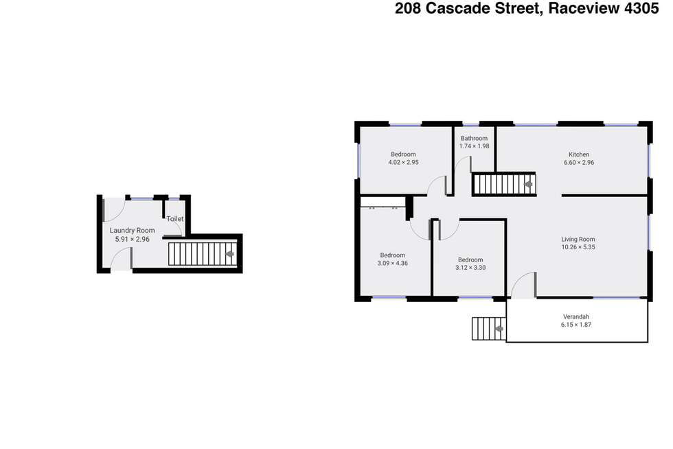 Floorplan of Homely house listing, 208 Cascade Street, Raceview QLD 4305