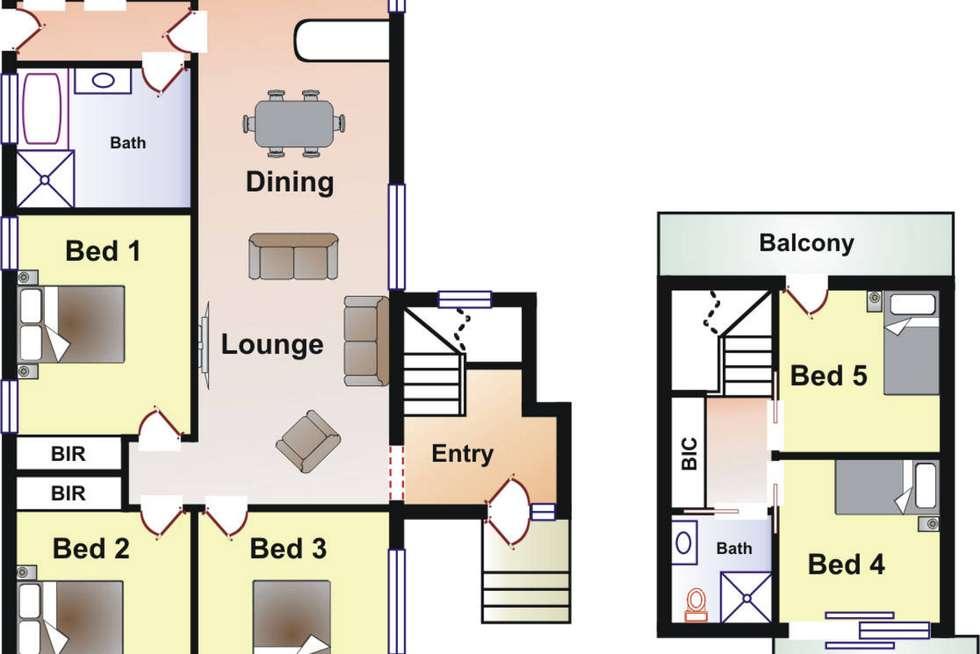 Floorplan of Homely house listing, 6 Frieda Street, Dromana VIC 3936