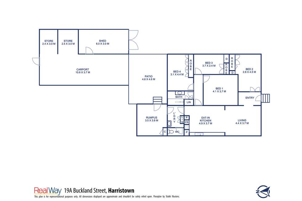 Floorplan of Homely house listing, 19A Buckland Street, Harristown QLD 4350