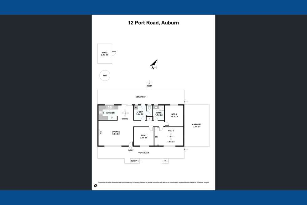 Floorplan of Homely house listing, 12 Port Road, Auburn SA 5451