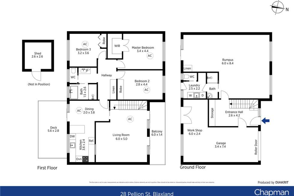 Floorplan of Homely house listing, 28 Pellion Street, Blaxland NSW 2774