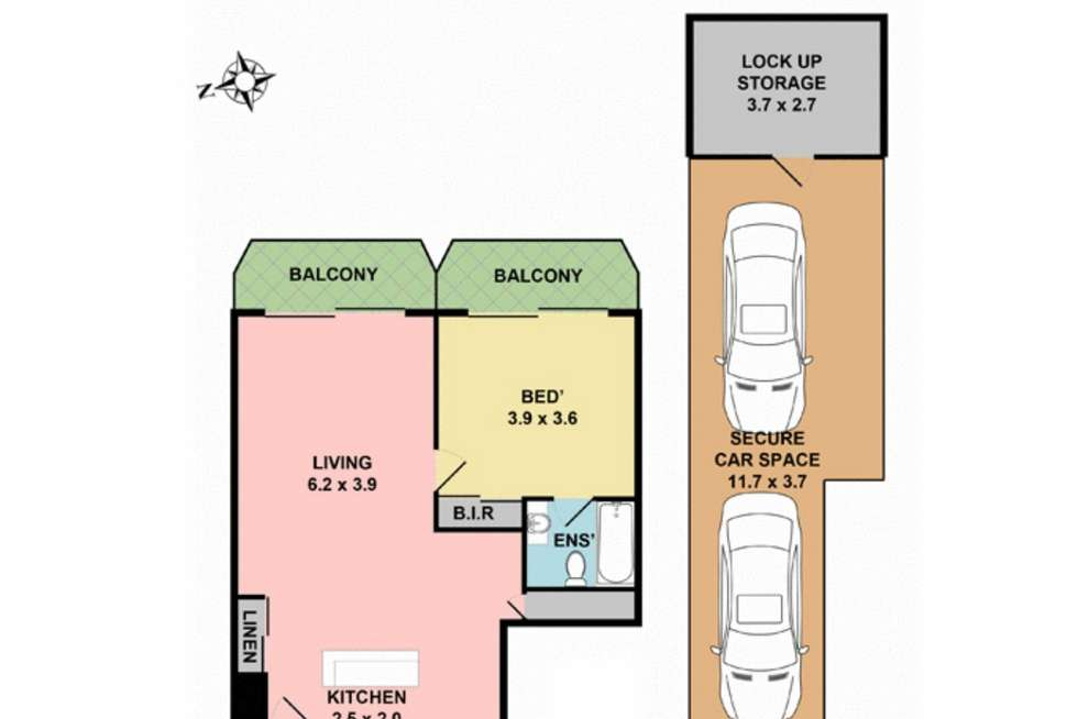 Floorplan of Homely apartment listing, 105/75-79 Jersey Street North, Hornsby NSW 2077