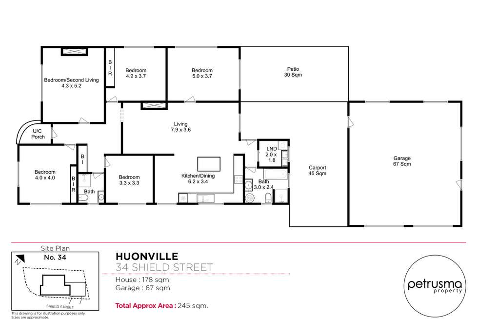 Floorplan of Homely house listing, 34 Shield Street, Huonville TAS 7109