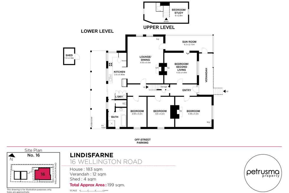 Floorplan of Homely house listing, 1/16 Wellington Road, Lindisfarne TAS 7015