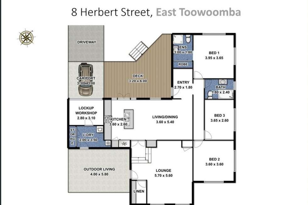 Floorplan of Homely house listing, 8 Herbert Street, East Toowoomba QLD 4350