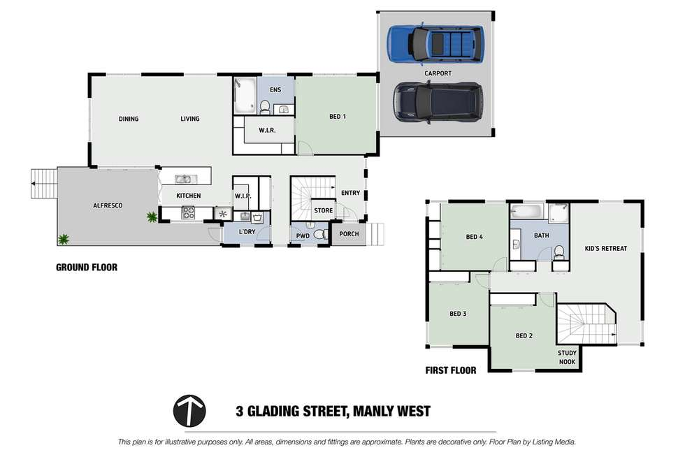 Floorplan of Homely house listing, 3 Glading Street, Manly West QLD 4179