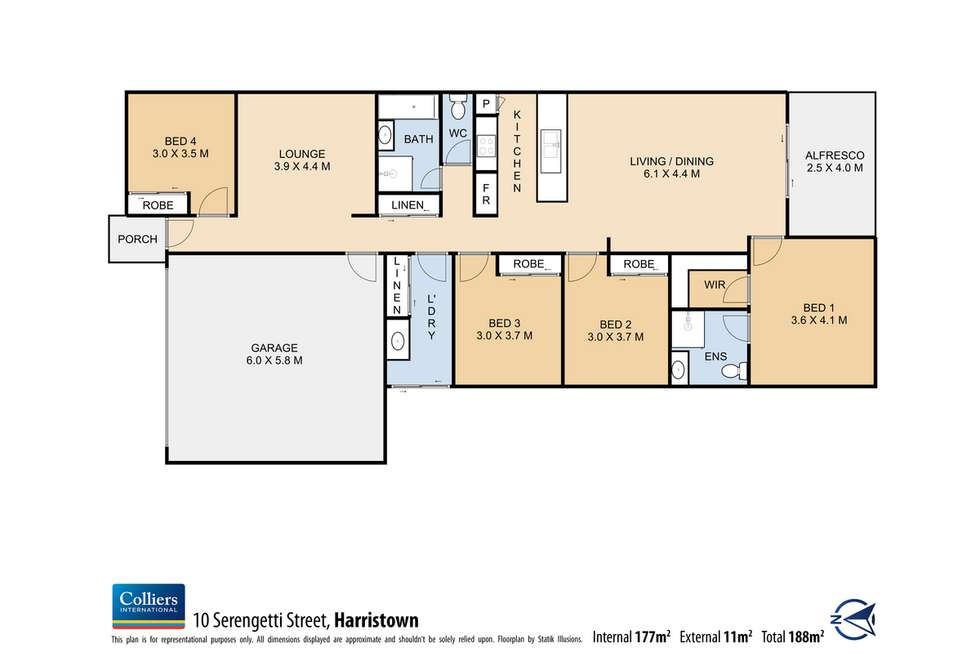 Floorplan of Homely house listing, 10 Serengetti Street, Harristown QLD 4350