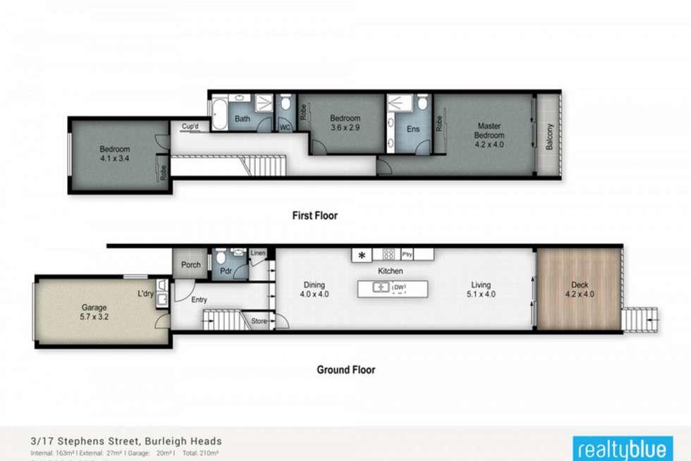 Floorplan of Homely townhouse listing, 3/17 Stephens Street, Burleigh Heads QLD 4220