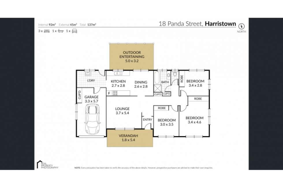 Floorplan of Homely house listing, 18 Panda Street, Harristown QLD 4350