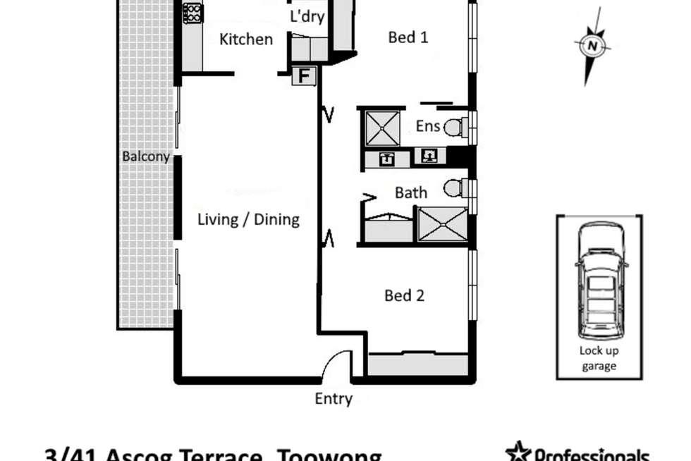Floorplan of Homely unit listing, 3/41 Ascog Terrace, Toowong QLD 4066