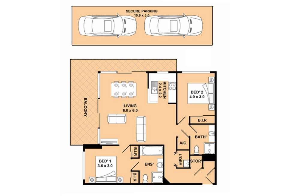 Floorplan of Homely apartment listing, 329/17 Romsey Street, Waitara NSW 2077
