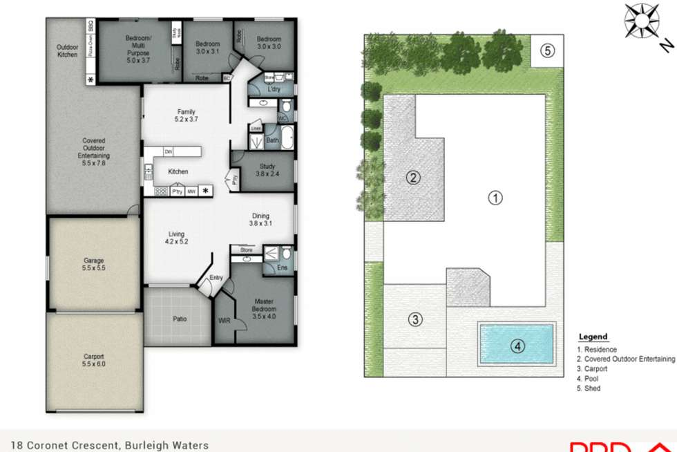 Floorplan of Homely house listing, 18 Coronet Crescent, Burleigh Waters QLD 4220