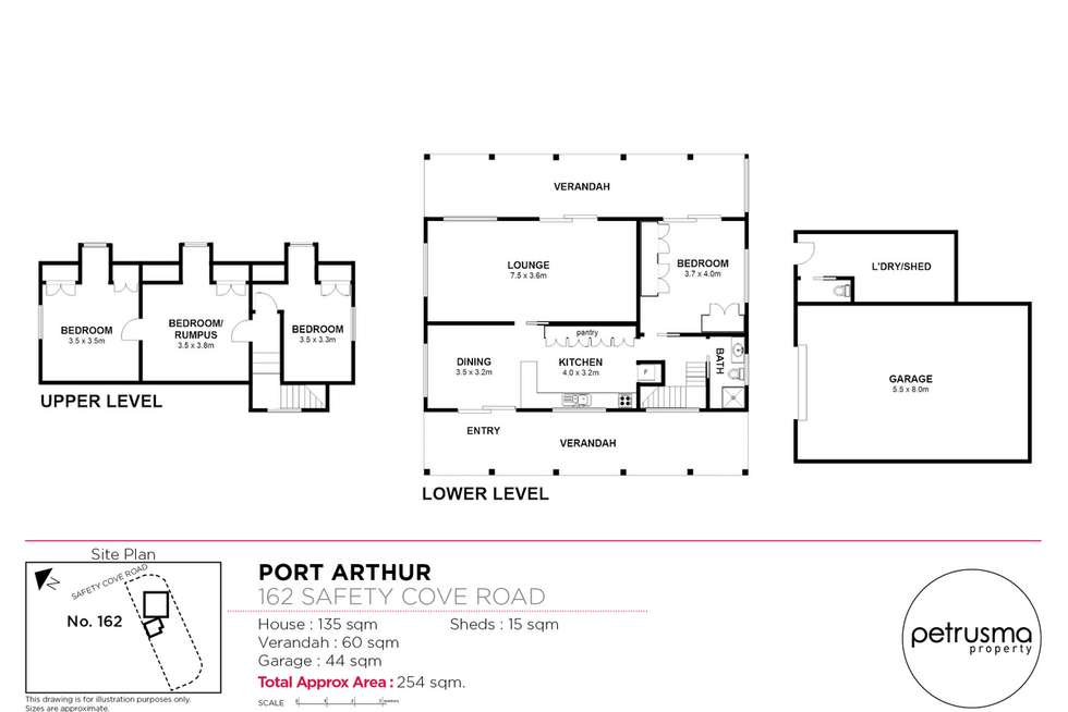 Floorplan of Homely house listing, 162 Safety Cove Road, Port Arthur TAS 7182