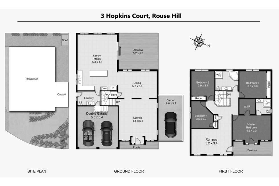 Floorplan of Homely house listing, 3 Hopkins Court, Rouse Hill NSW 2155