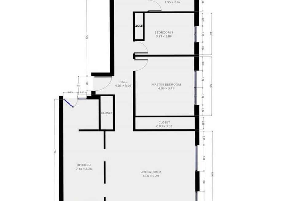 Floorplan of Homely unit listing, 10/55 Hillside Crescent, Hamilton QLD 4007