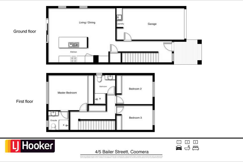 Floorplan of Homely townhouse listing, 4/5 Bailer Street, Coomera QLD 4209