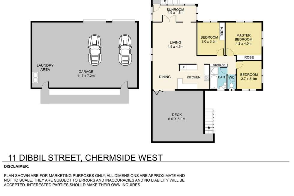 Floorplan of Homely house listing, 11 Dibbil Street, Chermside West QLD 4032