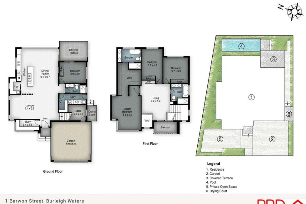 Floorplan of Homely house listing, 1 Barwon Street, Burleigh Waters QLD 4220