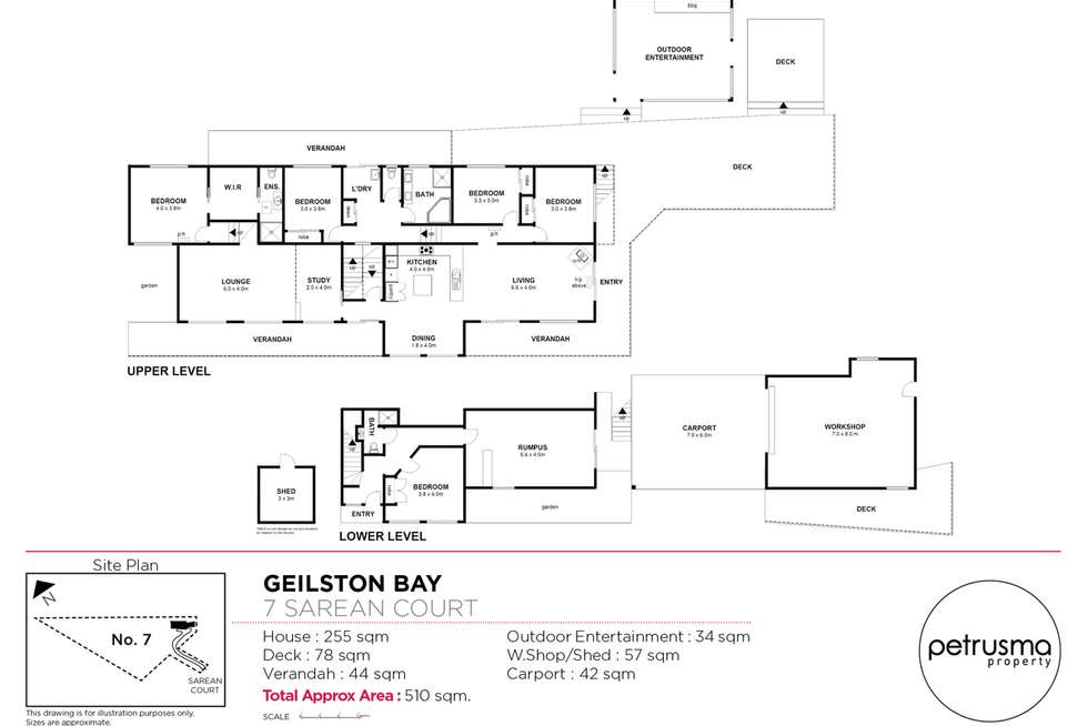 Floorplan of Homely house listing, 7 Sarean Court, Geilston Bay TAS 7015
