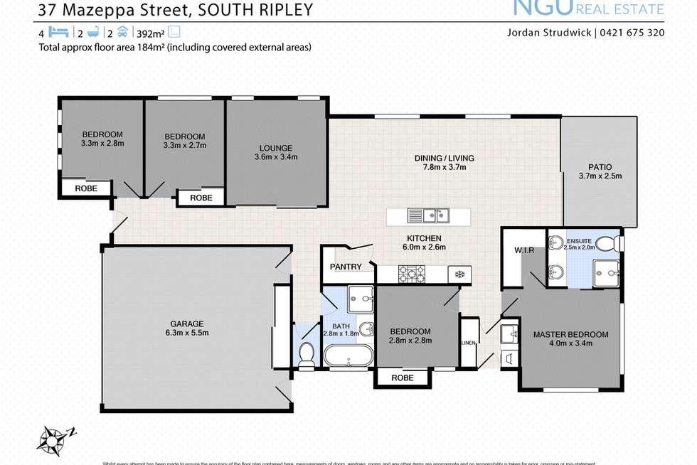 Floorplan of Homely house listing, 37 Mazeppa Street, South Ripley QLD 4306