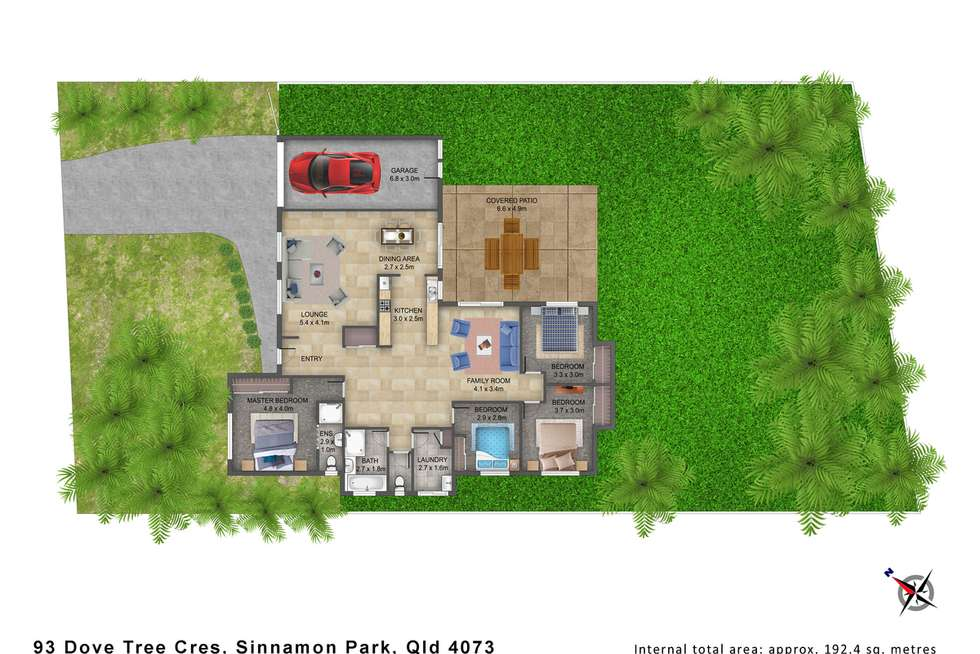 Floorplan of Homely house listing, 93 Dove Tree Crescent, Sinnamon Park QLD 4073