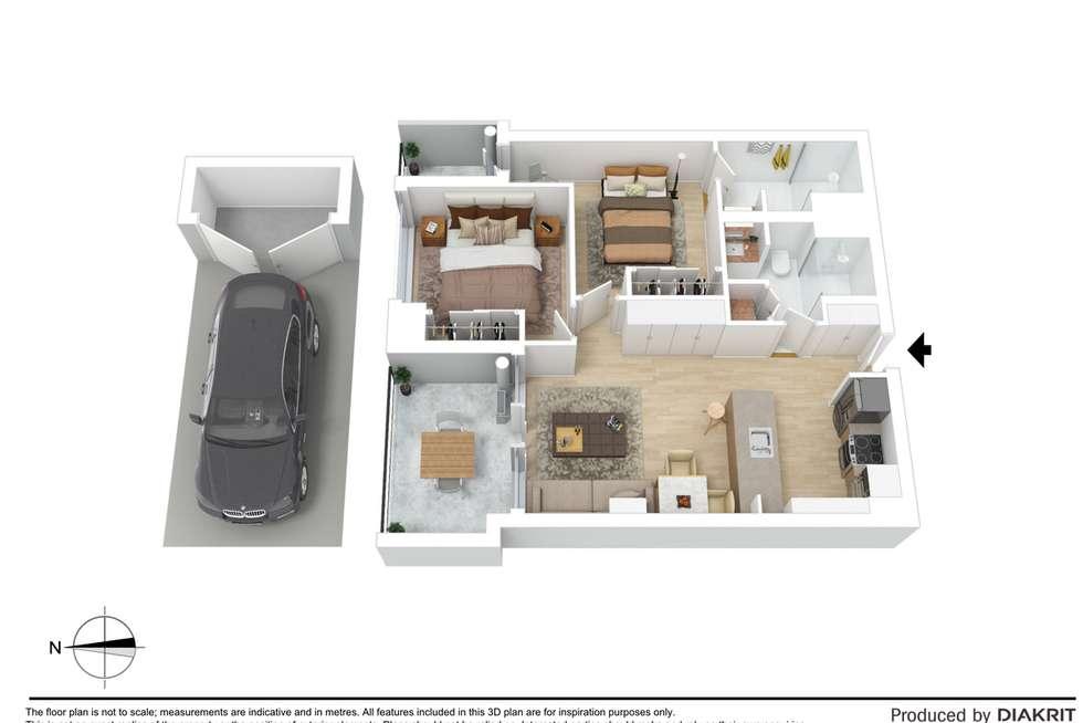 Floorplan of Homely apartment listing, 412/51 Homer Street, Moonee Ponds VIC 3039