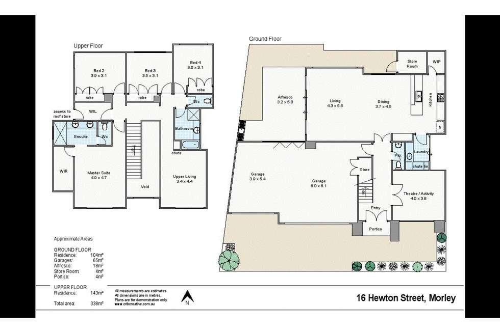 Floorplan of Homely house listing, 16 Hewton Street, Morley WA 6062
