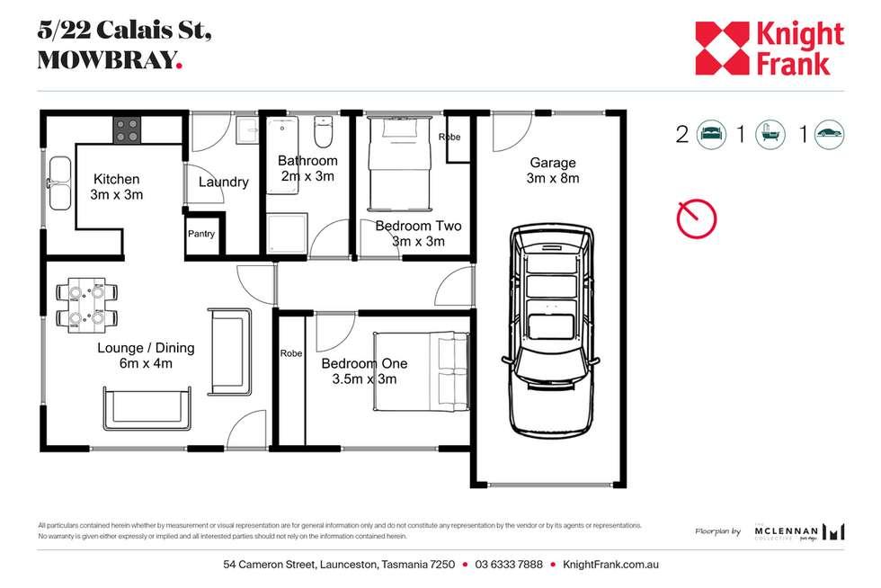 Floorplan of Homely house listing, 5/22 Calais Street, Mowbray TAS 7248
