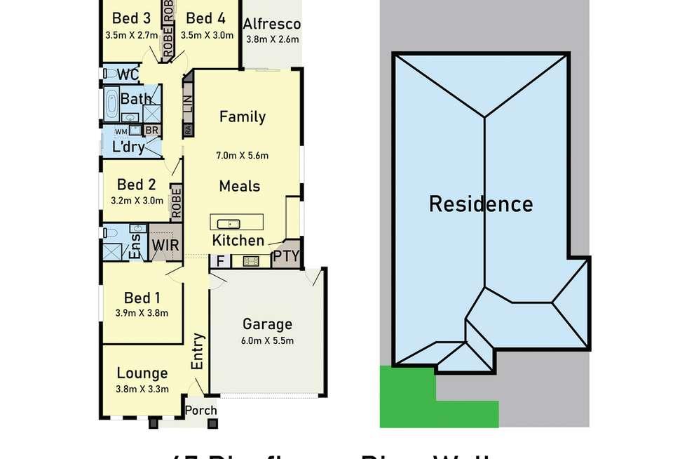 Floorplan of Homely house listing, 47 Riceflower Rise, Wallan VIC 3756