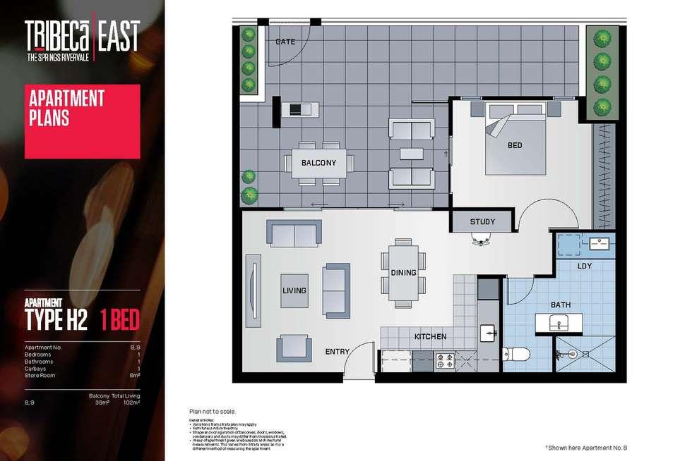 Floorplan of Homely apartment listing, 9/9 Hawksburn Road, Rivervale WA 6103