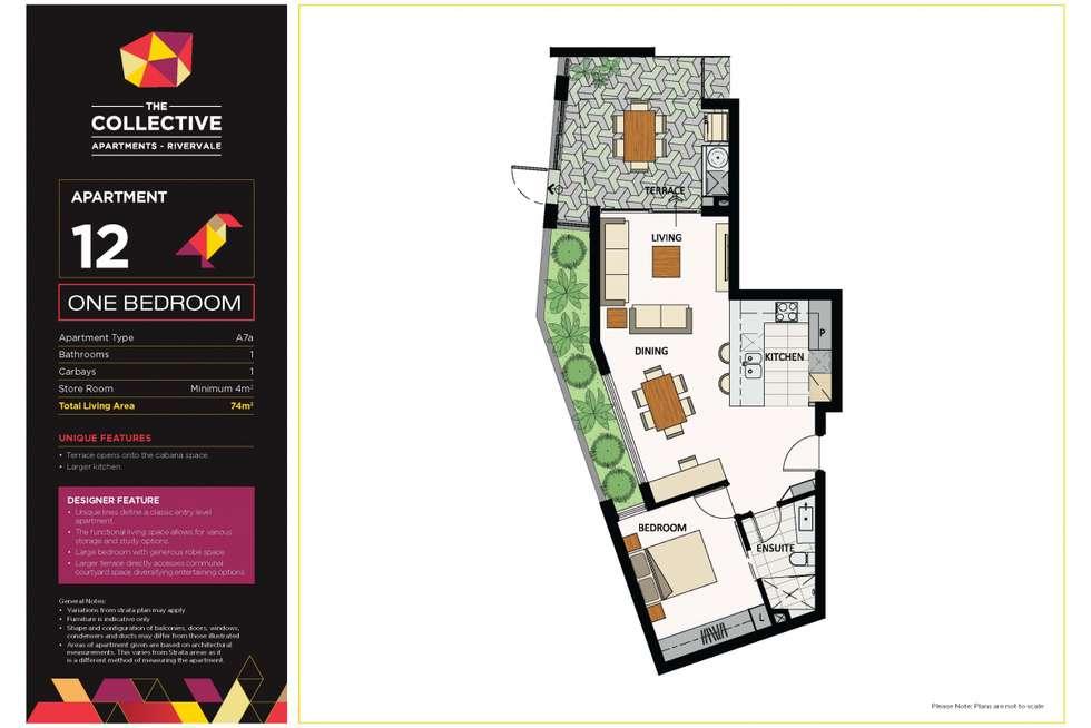 Floorplan of Homely apartment listing, 12/1 Hallam Way, Rivervale WA 6103