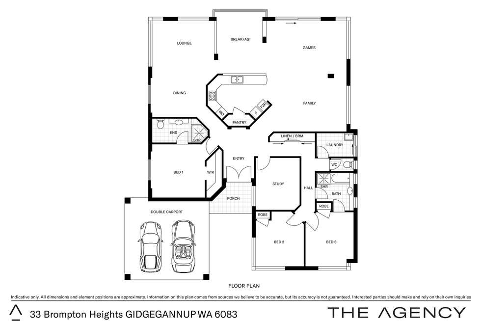 Floorplan of Homely acreageSemiRural listing, 33 Brompton Heights, Gidgegannup WA 6083
