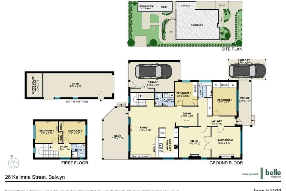 Floorplan of Homely house listing, 26 Kalimna Street, Balwyn VIC 3103