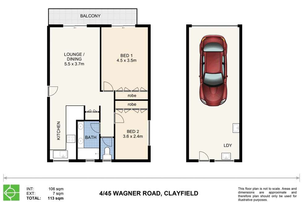 Floorplan of Homely unit listing, 4/45 Wagner Road, Clayfield QLD 4011