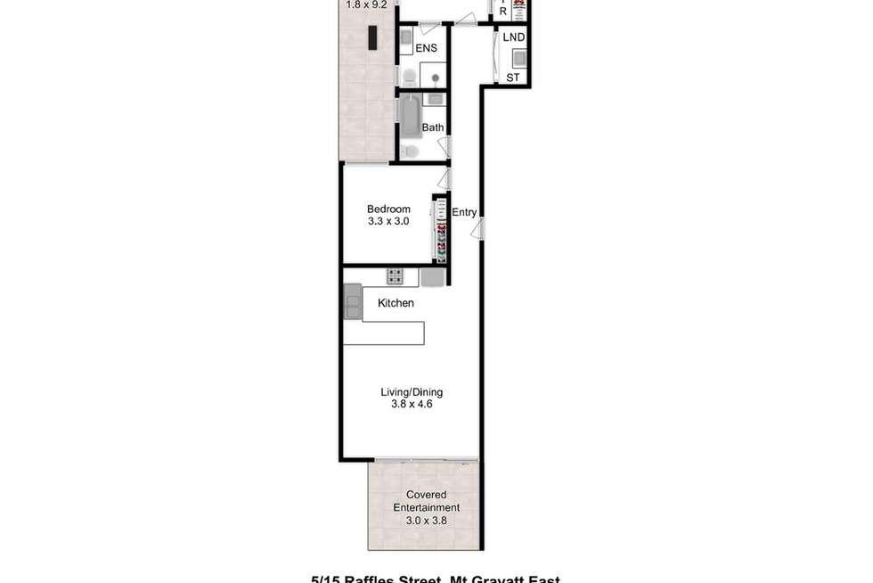 Floorplan of Homely unit listing, 5/15 Raffles Street, Mount Gravatt East QLD 4122
