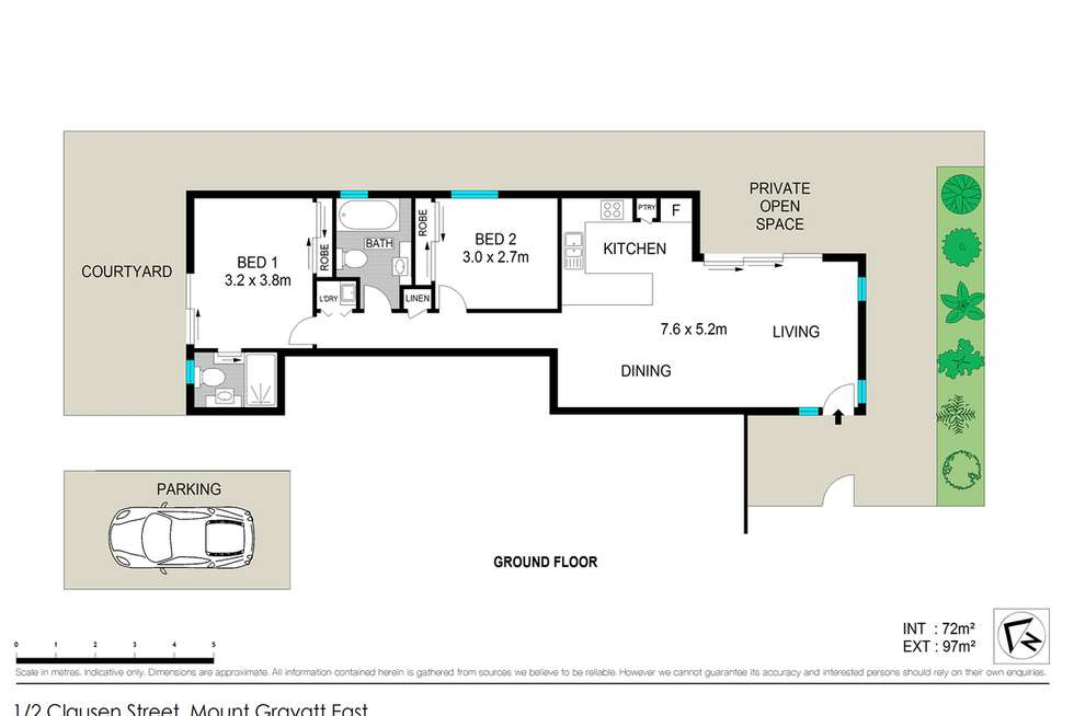 Floorplan of Homely unit listing, 1/2 Clausen Street, Mount Gravatt East QLD 4122