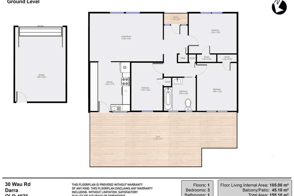 Floorplan of Homely house listing, 30 Wau Road, Darra QLD 4076