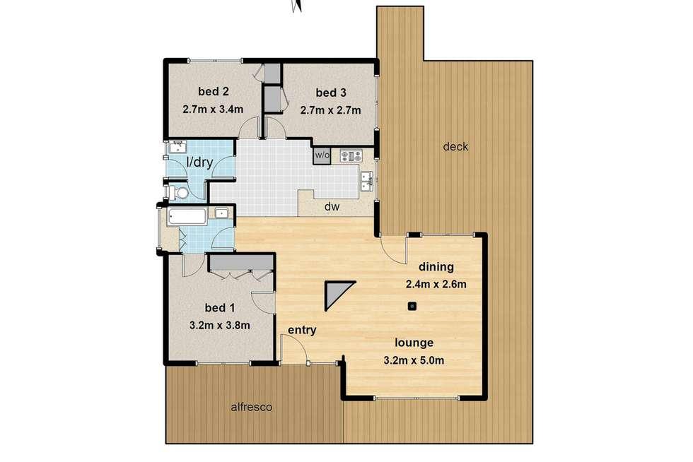 Floorplan of Homely house listing, 1 Baker Street, Cockatoo VIC 3781