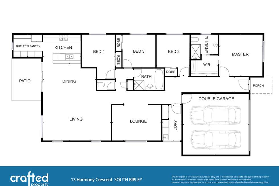 Floorplan of Homely house listing, 13 Harmony Crescent, South Ripley QLD 4306