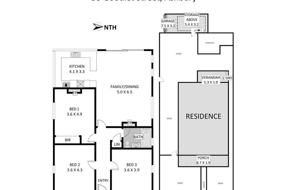 Floorplan of Homely house listing, 53 Goodlet Street, Ashbury NSW 2193