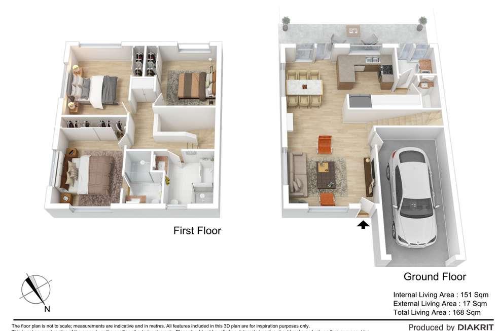 Floorplan of Homely townhouse listing, 19/1 Elsie Street, Kallangur QLD 4503